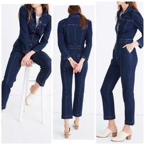 NWT, Madewell Denim Puff Sleeve Jumpsuits, size 0